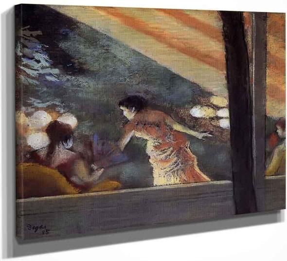 At The Cafe Des Ambassadeurs By Edgar Degas