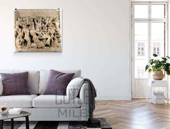 Battle By Michelangelo Buonarroti By Michelangelo Buonarroti