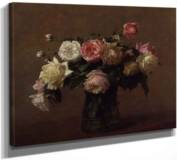 Bouquet Of Roses 2 By Henri Fantin Latour By Henri Fantin Latour