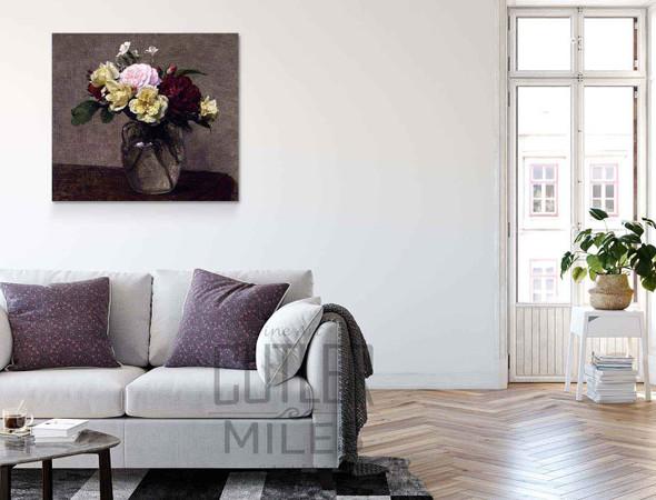 Bouquet Of Varied Roses By Henri Fantin Latour By Henri Fantin Latour
