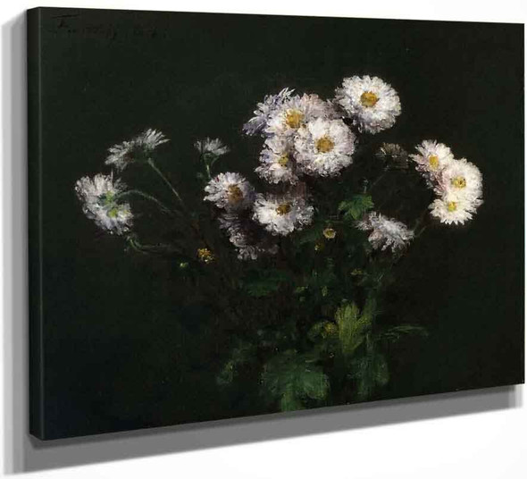 Bouquet Of White Chrysanthemums By Henri Fantin Latour By Henri Fantin Latour