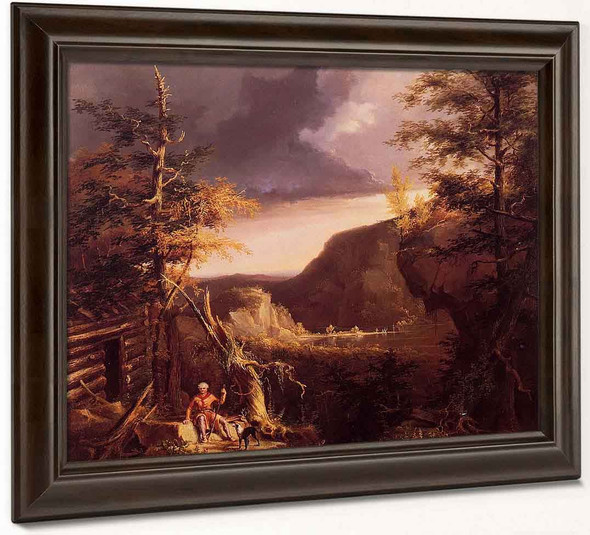 Daniel Boone Sitting At The Door Of His Cabin On The Great Osage Lake, Kentucky By Thomas Cole By Thomas Cole