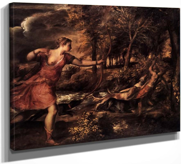 Death Of Actaeon By Titian