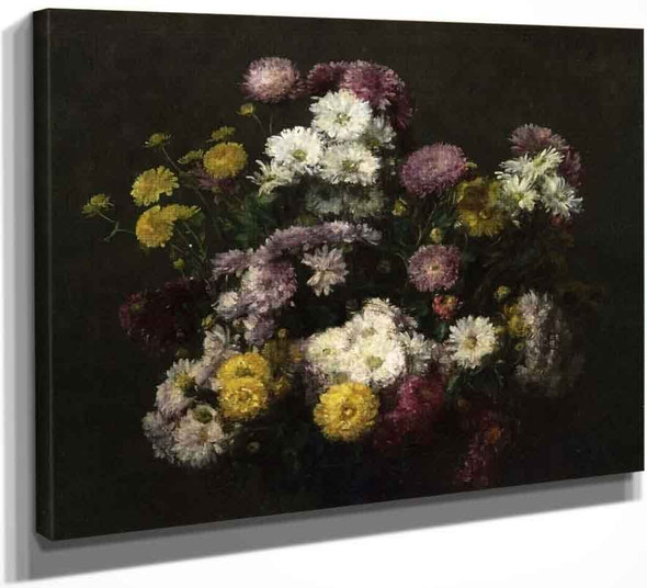 Flowers, Chrysanthemums By Henri Fantin Latour By Henri Fantin Latour