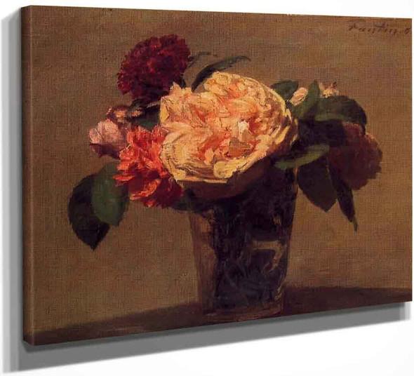 Flowers In A Vase By Henri Fantin Latour By Henri Fantin Latour