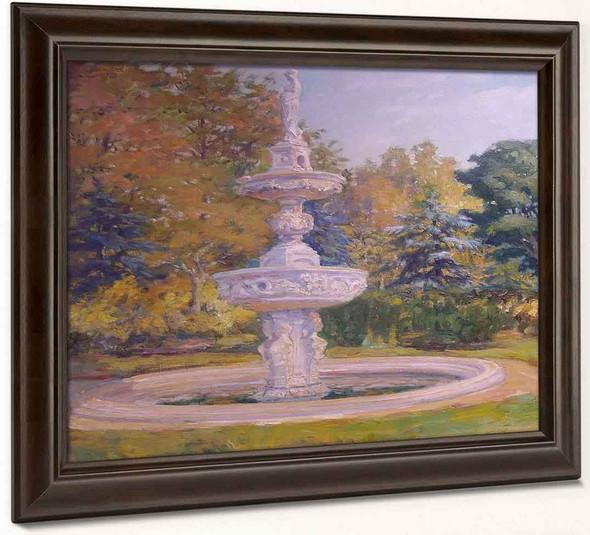 Fountain In The Park By Sergei Arsenevich Vinogradov Russian 1869 1938