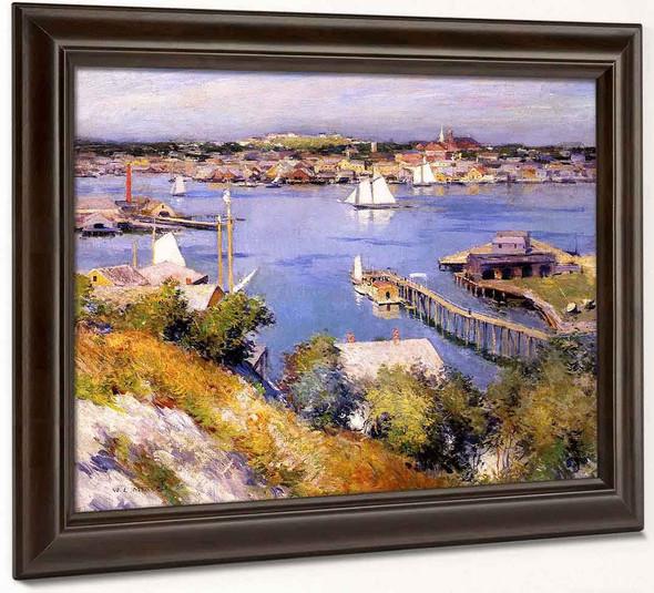 Gloucester Harbor By Willard Leroy Metcalf