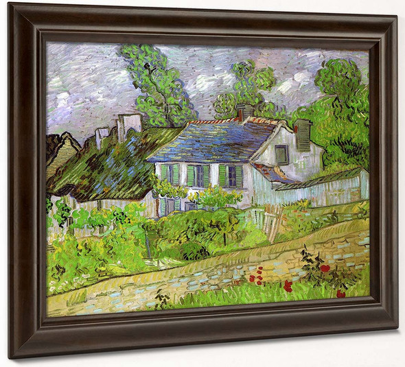 Houses In Auvers By Vincent Van Gogh