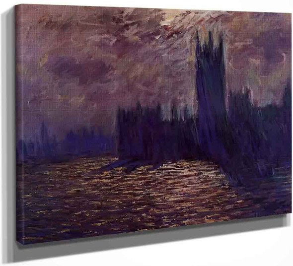 Houses Of Parliament, Reflection Of The Thames By Claude Oscar Monet