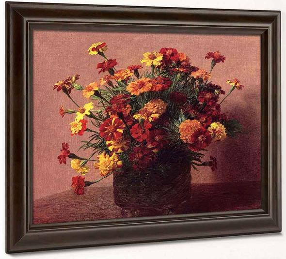 India Carnations By Henri Fantin Latour By Henri Fantin Latour