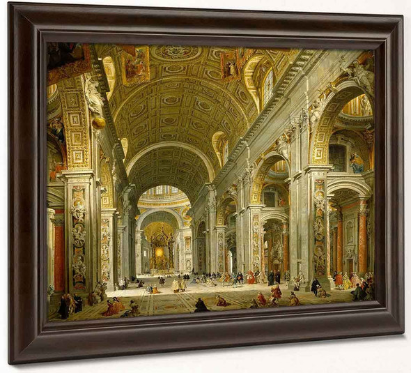 Interior Of St Peter's In Rome1 By Giovanni Paolo Panini By Giovanni Paolo Panini
