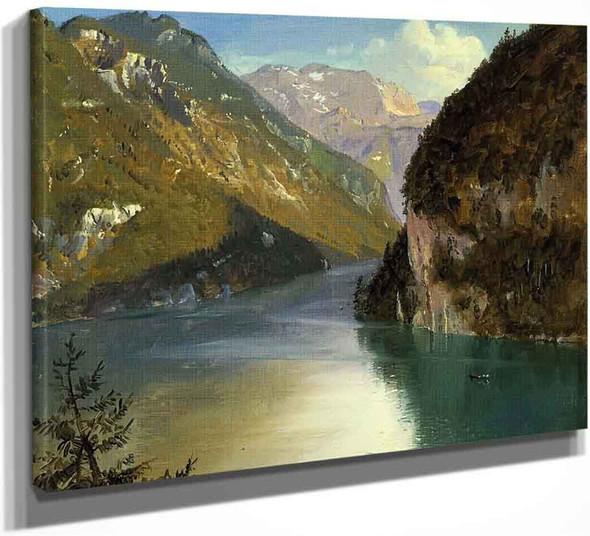Konigsee, Bavaria By Frederic Edwin Church By Frederic Edwin Church