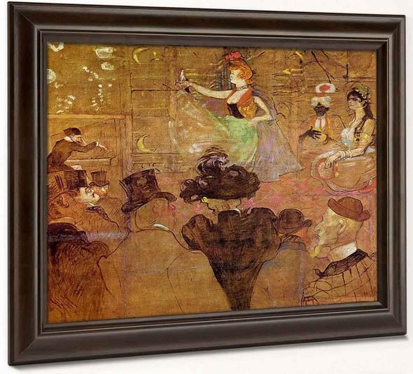 La Goulue Dancing By Henri De Toulouse Lautrec