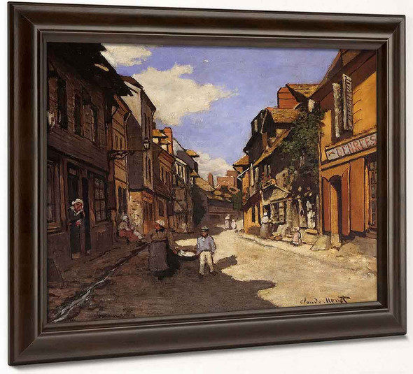La Rue De La Bavolle At Honfleur1 By Claude Oscar Monet