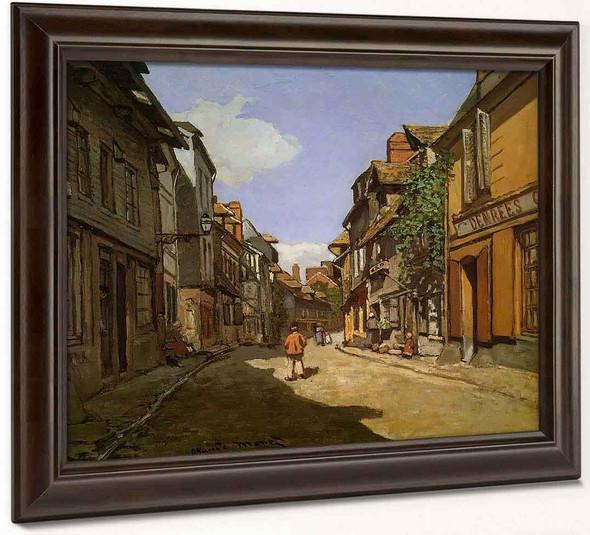 La Rue De La Bavolle At Honfleur By Claude Oscar Monet