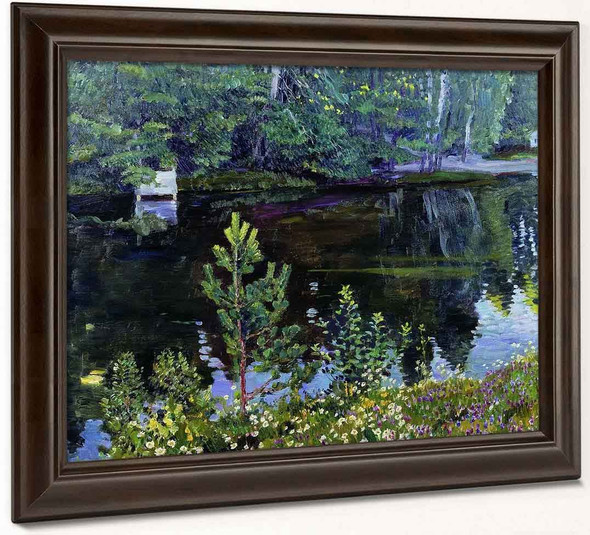 Lake By Sergei Arsenevich Vinogradov Russian 1869 1938