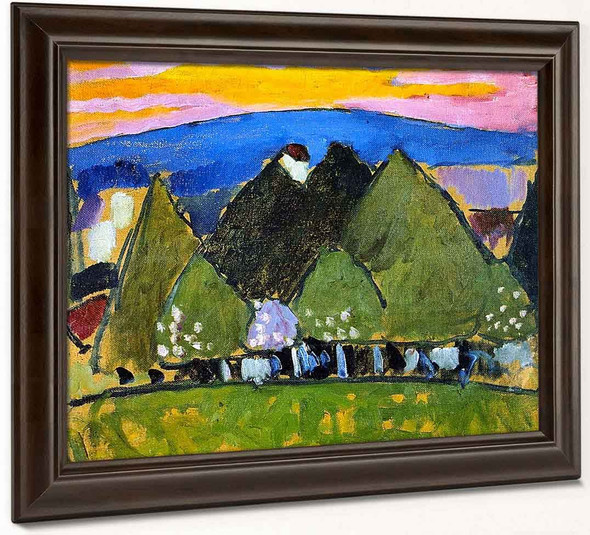 Landscape With Trees By Alexei Jawlensky By Alexei Jawlensky
