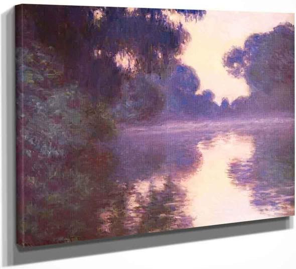 Misty Morning On The Seine Blue By Claude Oscar Monet
