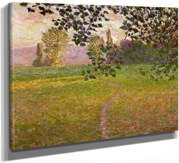 Morning Landscape, Giverny By Claude Oscar Monet