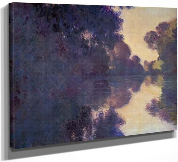 Morning On The Seine, Clear Weather By Claude Oscar Monet