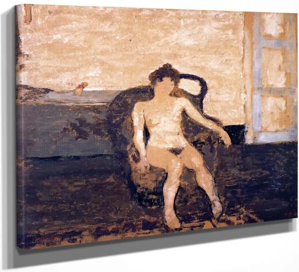 Nude Seated In An Armchair By Edouard Vuillard