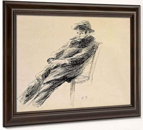 Portrait Of Ludovic Rodo Pissarro By Camille Pissarro
