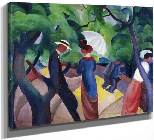 Promenade By August Macke