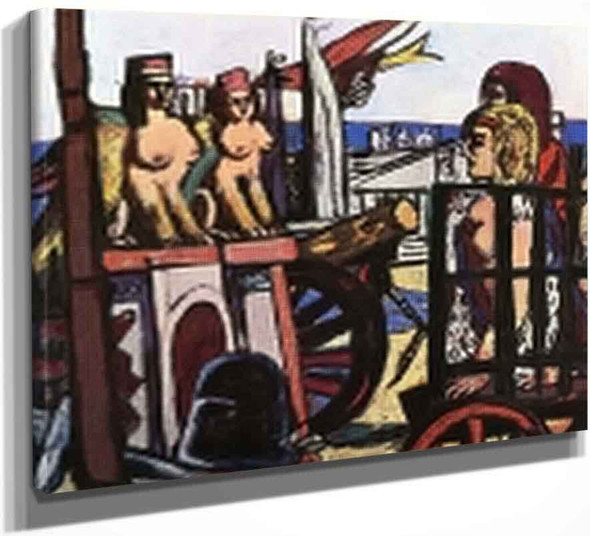 Removal Of The Sphinxes By Max Beckmann By Max Beckmann