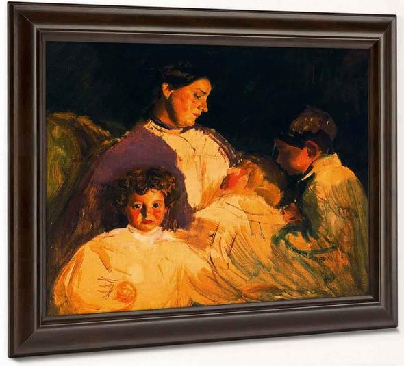 Retrato De Su Mujer E Hijo By Jose Mongrell Torrent