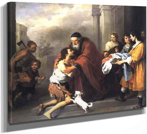 Return Of The Prodigal Son 0 By Bartolome Esteban Murillo