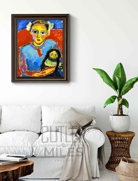 Child With Doll 1 By Alexei Jawlensky By Alexei Jawlensky