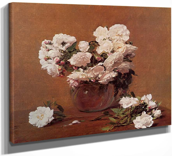 Roses4 By Henri Fantin Latour By Henri Fantin Latour