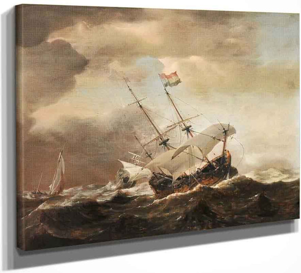 Shipping In A Rough Sea By Willem Van De Velde The Younger