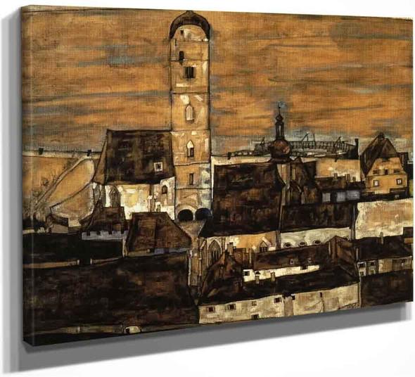 Stein On The Danube, Seen From The Kreuzberg By Egon Schiele