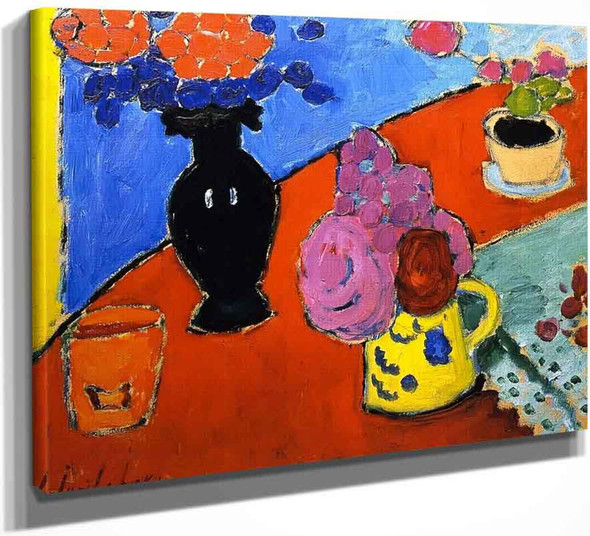 Still Life With Vase And Jug By Alexei Jawlensky By Alexei Jawlensky