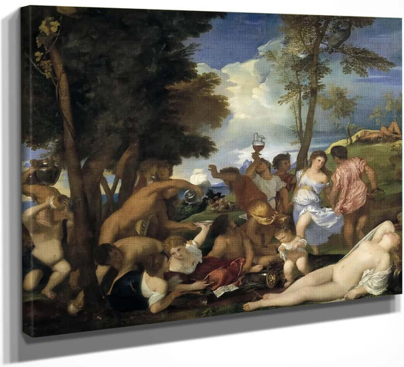 The Bacchanal Of The Andrians By Titian