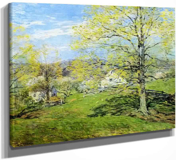The Breath Of Spring By Willard Leroy Metcalf