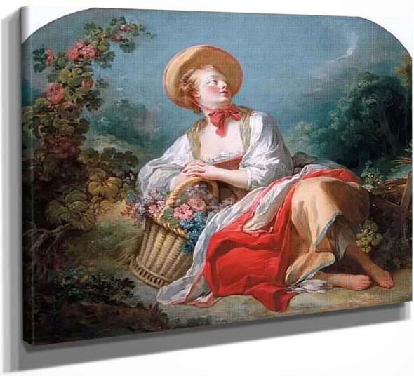 The Gardening Girl By Jean Honore Fragonard