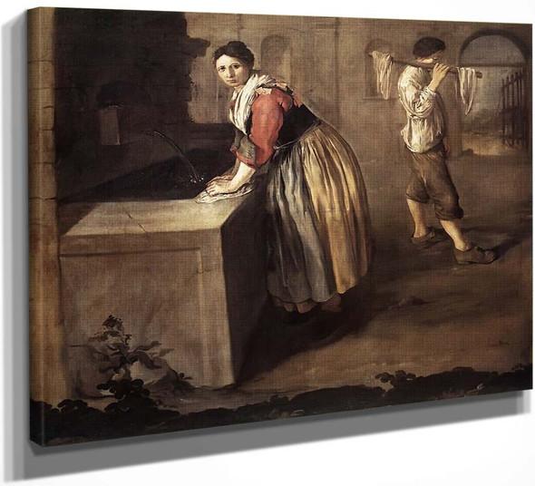 The Laundress By Giacomo Ceruti