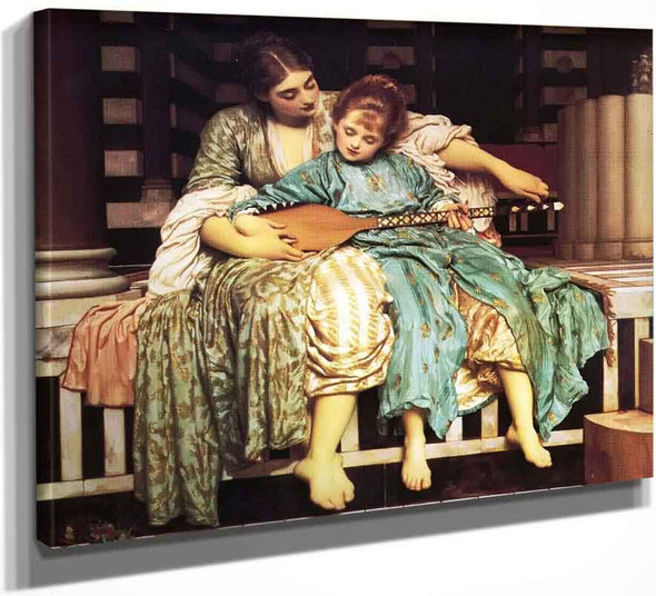 The Music Lesson By Sir Frederic Lord Leighton