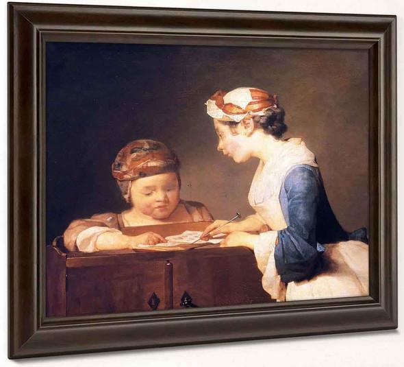 The Schoolmistress By Jean Baptiste Simeon Chardin By Jean Baptiste Simeon Chardin