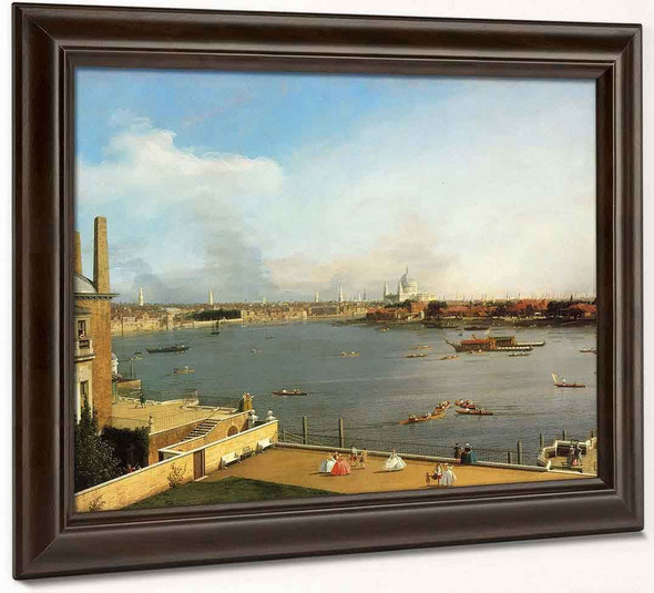 The Thames And The City Of London From Richmond House By Canaletto By Canaletto
