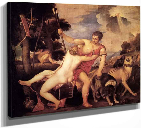 Venus And Adonis 1 By Titian