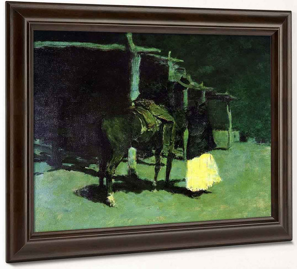 Waiting In The Moonlight By Frederic Remington