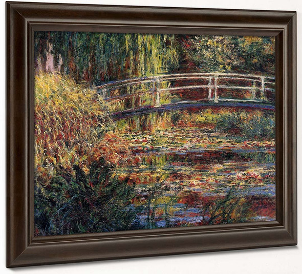Water Lily Pond, Symphony In Rose By Claude Oscar Monet