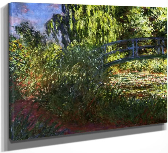 Waterlily Pond And Path By The Water By Claude Oscar Monet