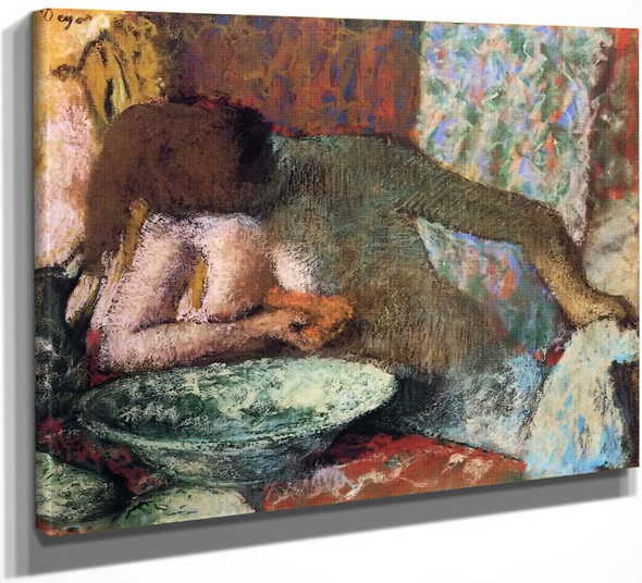 Woman At Her Toilette5 By Edgar Degas