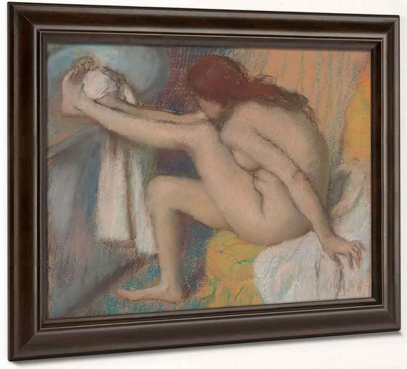 Woman Drying Her Foot By Edgar Degas