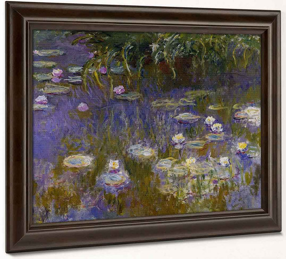 Yellow And Lilac Water Lilies By Claude Oscar Monet
