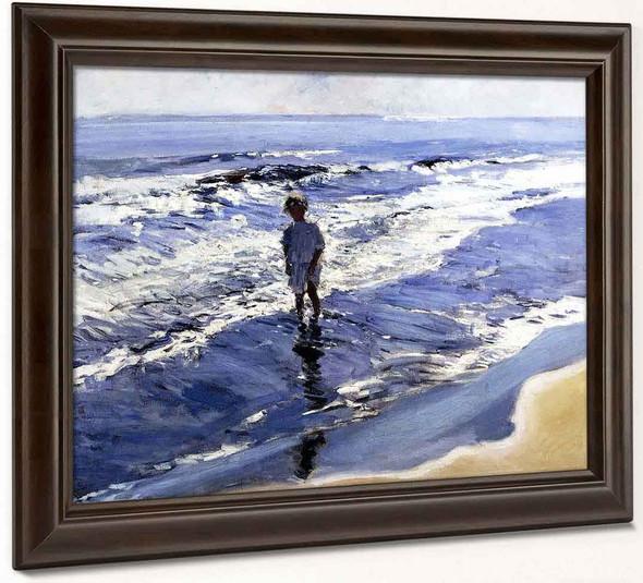 Young Girl In A Silvery Sea By Joaquin Sorolla Y Bastida